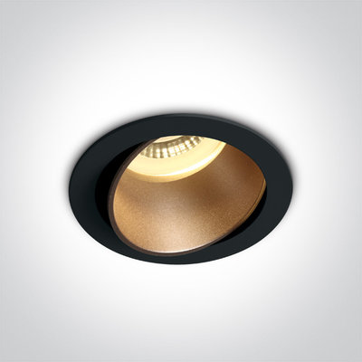 BLACK GU10 10W BRASS REFLECTOR DARK LIGHT ADJUSTABLE