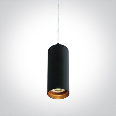 BLACK PENDANT GU10 10W DARK LIGHT
