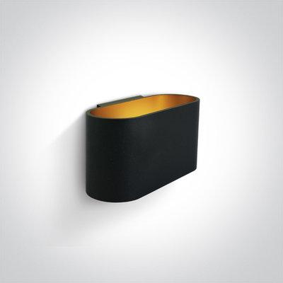 LED Wandarmatuur - G9 - Zwart/goud - Ovaal