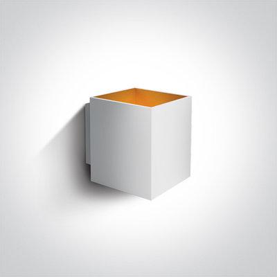 LED Wandarmatuur - G9 - Wit/goud - Vierkant
