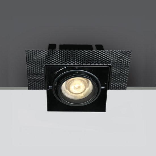Trimless spot - GU10 - Enkel - Zwart