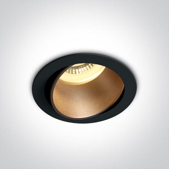 Inbouwspot rond - GU10 - Zwart/brons
