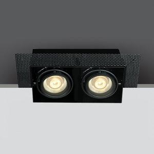 BLACK 2xGU10 TRIMLESS BOX