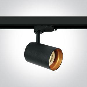 BLACK GU10 10W TRACK SPOT DARK LIGHT