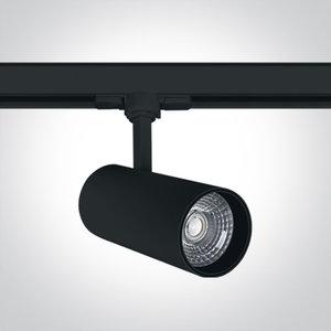 BLACK COB LED 20W CW TRACK SPOT 38deg 230V