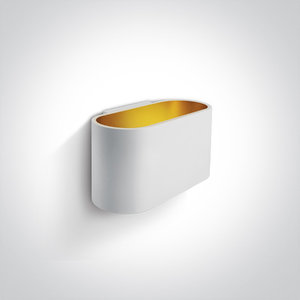 LED Wandarmatuur - G9 - Wit/goud - Ovaal