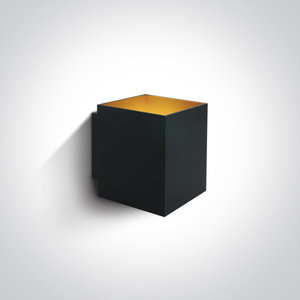 LED Wandarmatuur - G9 - Zwart/goud - Vierkant